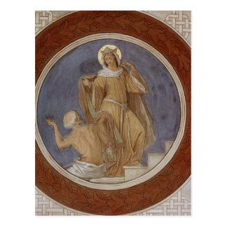 St. Elisabeth giving her Coat to a Beggar Postcard