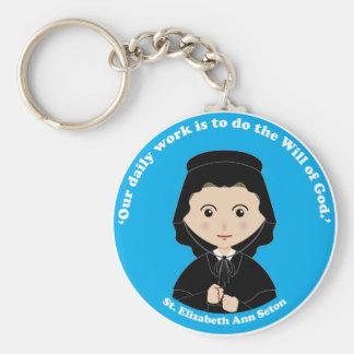 St. Elizabeth Ann Seton Basic Round Button Keychain