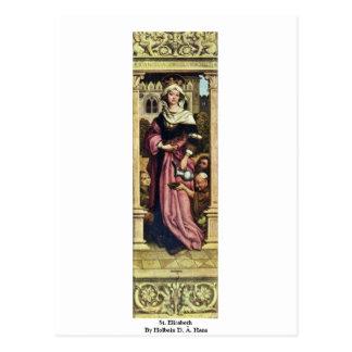 St. Elizabeth By Holbein D. Ä. Hans Postcard