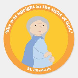 St. Elizabeth Classic Round Sticker