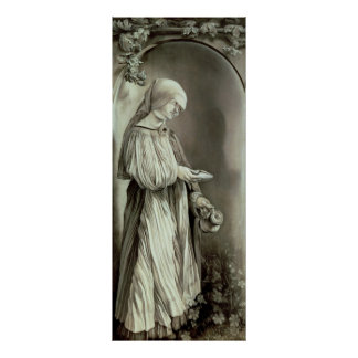 St. Elizabeth of Hungary  1509 Poster
