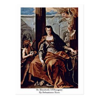 St. Elizabeth Of Hungary By Sebastiano Ricci Postcard