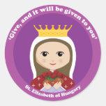 St. Elizabeth of Hungary Round Sticker