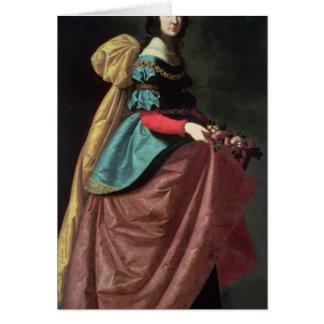 St. Elizabeth of Portugal  1640 Card