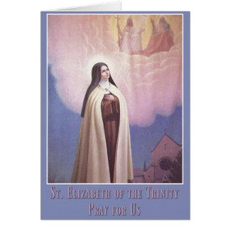 St. Elizabeth of the Trinity, Carmelite Nun Card