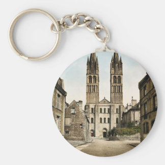 St. Etienne church, Caen, France classic Photochro Keychain