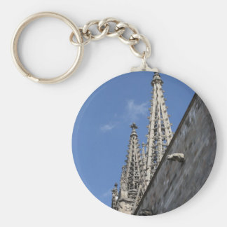 St Eulalia cathedral, Barcelona Basic Round Button Keychain