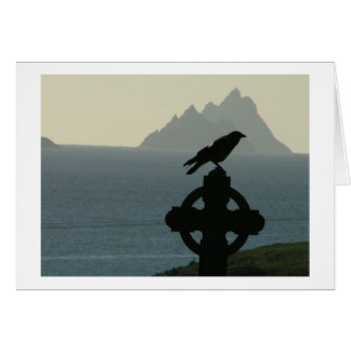 St Finians Bay Raven with Skelligs Card
