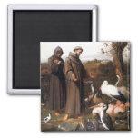St Frances et aimant d'oiseaux