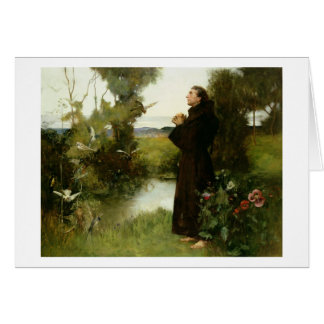 St. Francis, 1898 (oil on canvas) Greeting Card