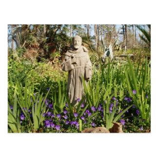 St. Francis Among Pansies Postcard