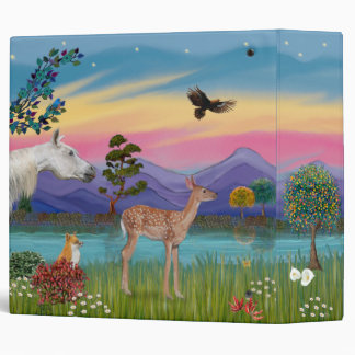 St. Francis & Animals (fawn added)-2 Vinyl Binder