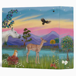 St. Francis & Animals (fawn added) Vinyl Binder