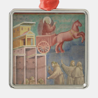 St. Francis Appears to His Companions Silver-Colored Square Ornament