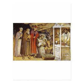 St Francis at the Nativity, mug key chain iPhone Postcard