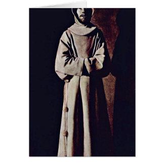 St. Francis By Francisco De Zurbaran Greeting Card