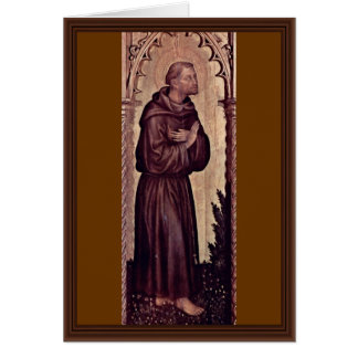 St. Francis By Gentile Da Fabriano Greeting Cards