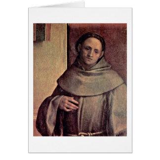 St. Francis By Giorgione Greeting Card