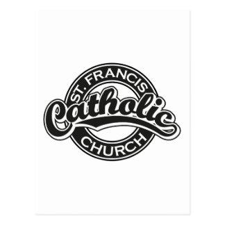 St. Francis Catholic Church Black Postcard