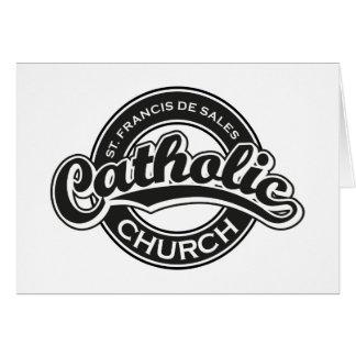 St. Francis De Sales Catholic Church Black White Greeting Cards