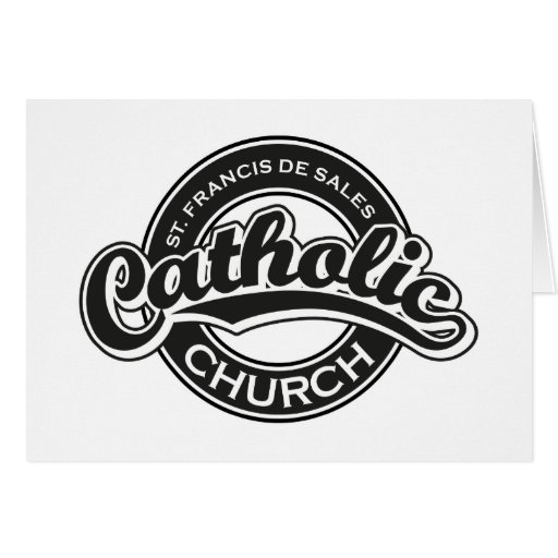 St. Francis De Sales Catholic Church Black White Greeting Cards