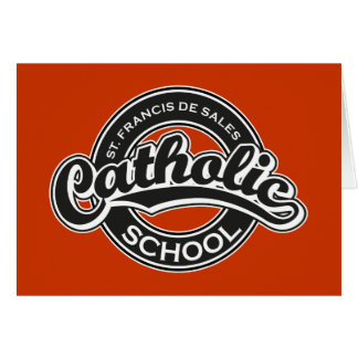 St. Francis De Sales Catholic School Black White Card