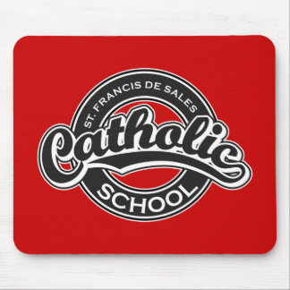 St. Francis De Sales Catholic School Black White Mouse Pad