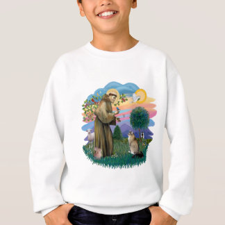 St Francis (ff) - Maine Coon cat (tabby) Sweatshirt