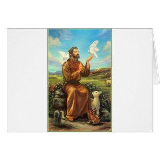 St. Francis Full-color Tee, Tie, Mug, Samsung Case Cards