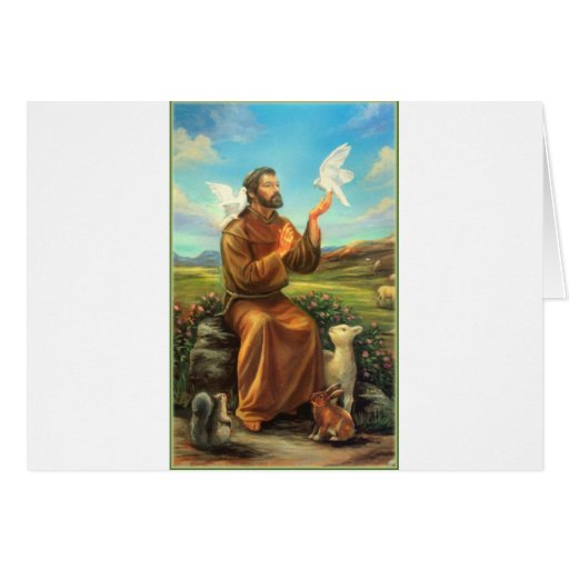 St. Francis Full-color Tee, Tie, Mug, Samsung Case Cards
