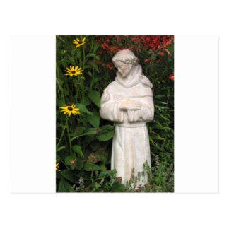 St. Francis Garden, coffee cup, key chain, hat etc Postcard
