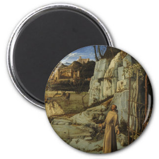 St Francis in the Desert 2 Inch Round Magnet