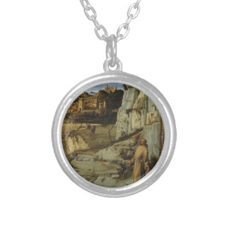 St Francis in the Desert Silver Plated Necklace