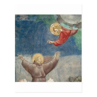 St. Francis Jesus keychain mug ipod ipad cover pet Postcard
