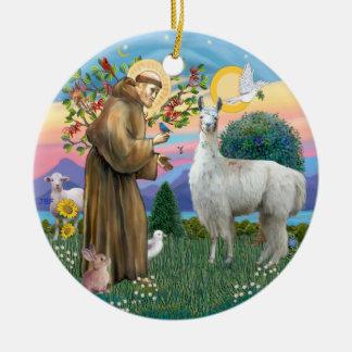 St Francis - Llama 12 Ceramic Ornament