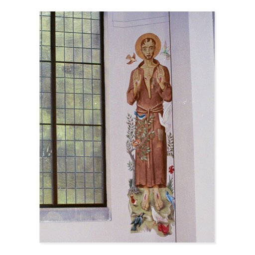St. Francis Mural in Abbey Postcards
