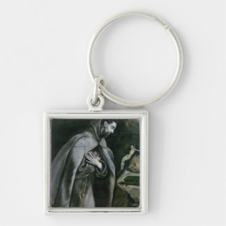 St. Francis of Assisi, 1580-95 Silver-Colored Square Keychain