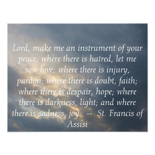 St. Francis of Assisi about FAITH Personalized Invites