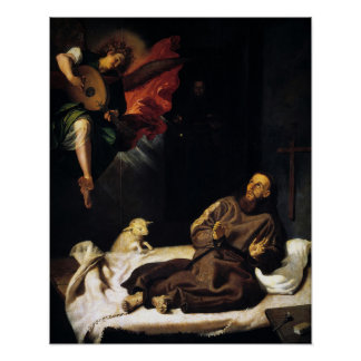 St Francis of Assisi Angel Visitation Poster