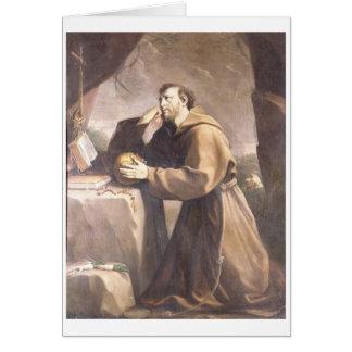 St. Francis of Assisi at Prayer Greeting Card