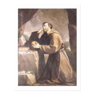 St. Francis of Assisi at Prayer Postcard