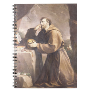 St. Francis of Assisi at Prayer Spiral Notebooks