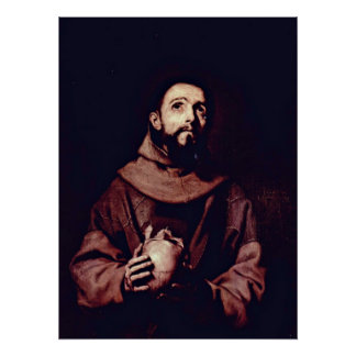 St. Francis of Assisi by Jusepe de Ribera Poster