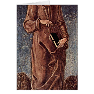 St. Francis Of Assisi By Tura Cosimo Card