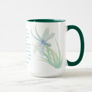 St. Francis of Assisi Dragonfly in Blue Aqua Mug