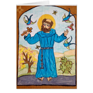 St Francis of Assisi from the original Retablo Card