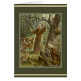 St. Francis of Assisi -Lover of Animals Card