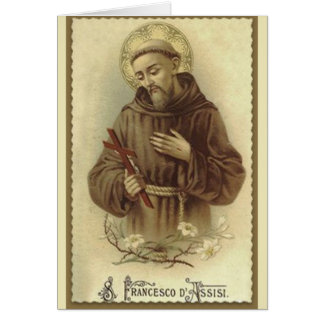 St. Francis of Assisi Patron Saint of Animals Card