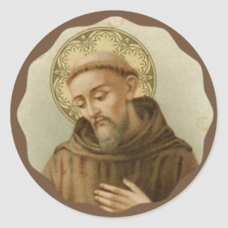 St. Francis of Assisi Patron Saint of Animals Round Sticker