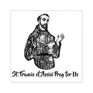 St. Francis of Assisi Patron Saint of Animals Rubber Stamp